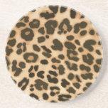 Fondo del estampado leopardo posavaso para bebida