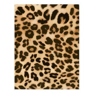 Fondo del estampado leopardo postal