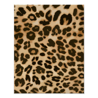 Fondo del estampado leopardo póster