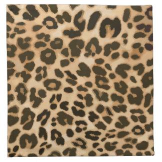 Fondo del estampado leopardo servilleta de papel