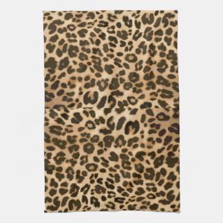 Fondo del estampado leopardo toallas de cocina