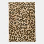 Fondo del estampado leopardo toallas de mano