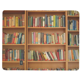 Fondo del estante cuadernos