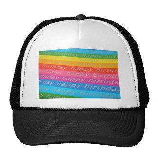 Fondo del feliz cumpleaños gorras
