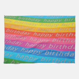 Fondo del feliz cumpleaños toalla de cocina