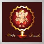 Fondo del festival de Diwali Poster