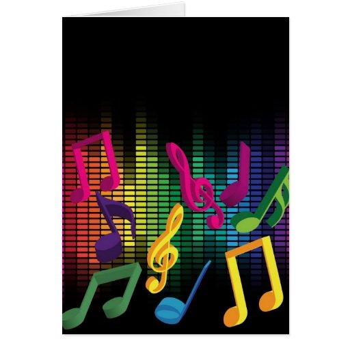 Fondo del fiesta de la música tarjeta de felicitación