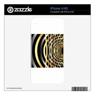 Fondo del fractal con el metal calcomanías para el iPhone 4S