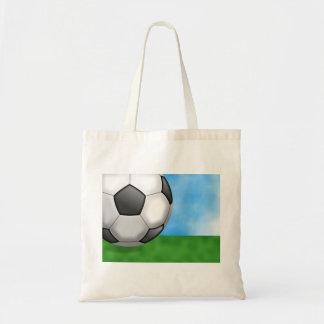 Fondo del fútbol bolsa tela barata
