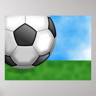 Fondo del fútbol póster