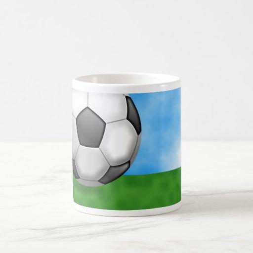Fondo del fútbol taza básica blanca