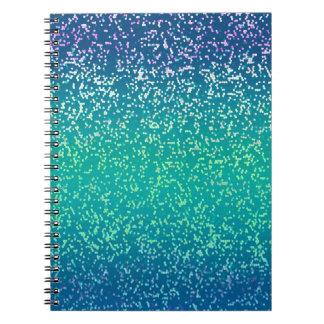 Fondo del gráfico del brillo del cuaderno