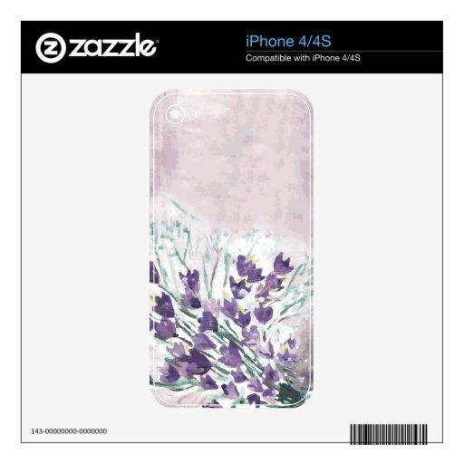 Fondo del grunge de la acuarela con las campanas skins para eliPhone 4S