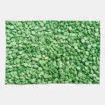 Fondo del guisante verde toalla de mano