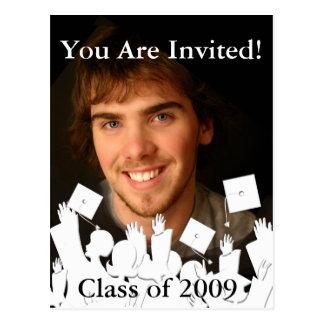 Fondo del Invitación-Cambio de la graduación/color Tarjetas Postales