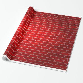 Fondo del ladrillo rojo papel de regalo