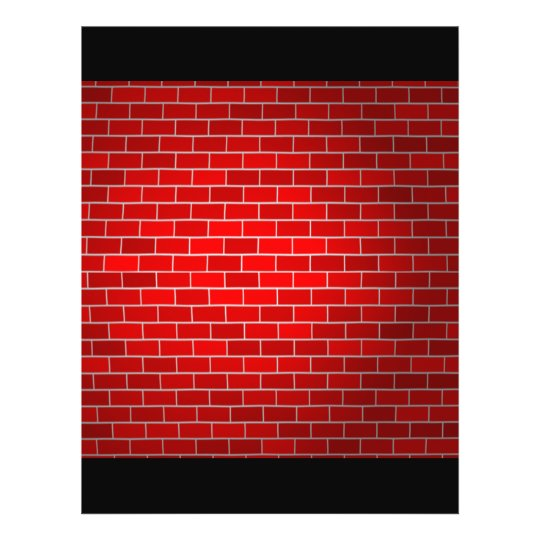 "Fondo del ladrillo rojo w/Spotlight Folleto 8.5"" X 11"""