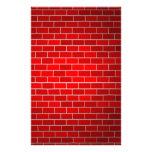 Fondo del ladrillo rojo w/Spotlight Papelería Personalizada