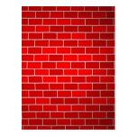 Fondo del ladrillo rojo w/Spotlight Postales