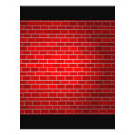 Fondo del ladrillo rojo w/Spotlight Tarjetones