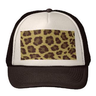 Fondo del leopardo gorras de camionero