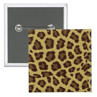 Fondo del leopardo pin cuadrada 5 cm