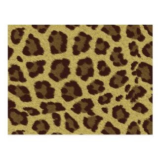 Fondo del leopardo postal