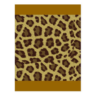 Fondo del leopardo tarjeta postal
