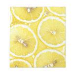 Fondo del limón blocs de notas