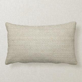 Fondo del lino del algodón cojín