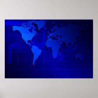 Fondo del mapa del mundo impresiones