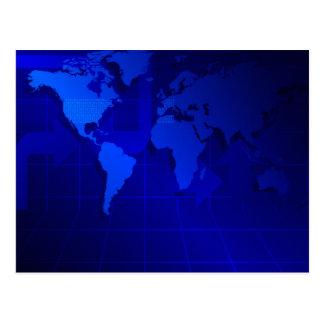 Fondo del mapa del mundo tarjeta postal