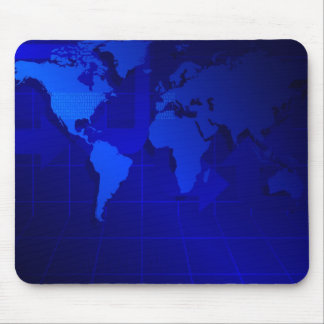 Fondo del mapa del mundo alfombrilla de ratones