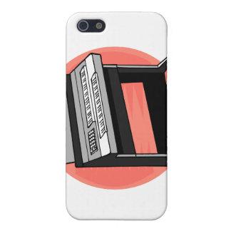Fondo del melocotón del órgano eléctrico iPhone 5 carcasas