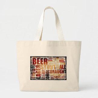 Fondo del menú de la cerveza bolsas lienzo