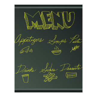 Fondo del menú de la comida de la pizarra membrete a diseño