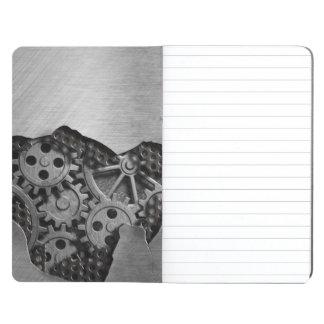 Fondo del metal con daño mecánico cuadernos