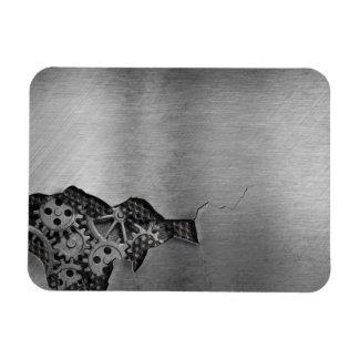 Fondo del metal con daño mecánico imanes flexibles