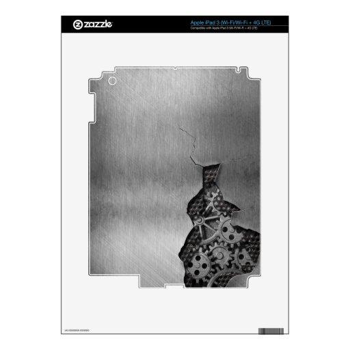 Fondo del metal con daño mecánico iPad 3 skins