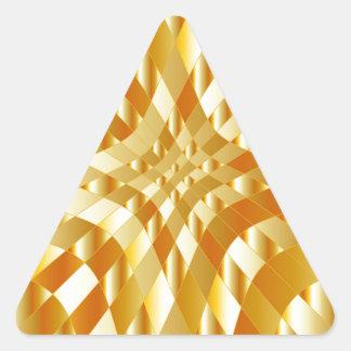 Fondo del metal del oro del alto grado pegatina triangular