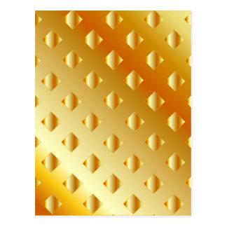 fondo del metal del oro tarjetas postales