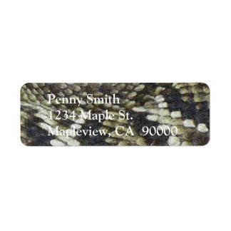 Fondo del modelo de la impresión de la serpiente etiquetas de remite