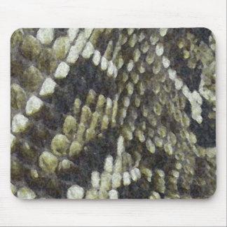 Fondo del modelo de la impresión de la serpiente tapete de ratones