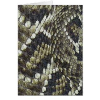 Fondo del modelo de la impresión de la serpiente tarjeta de felicitación