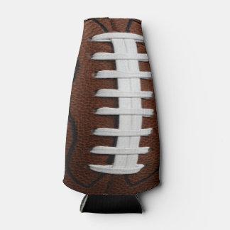 Fondo del modelo de la impresión del fútbol enfriador de botellas