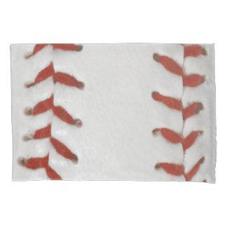 Fondo del modelo de la impresión del softball del funda de cojín