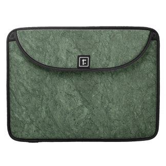 Fondo del modelo de la piedra del verde esmeralda funda para macbook pro