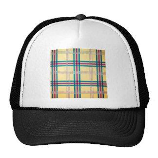 Fondo del modelo de la tela escocesa de tartán gorras