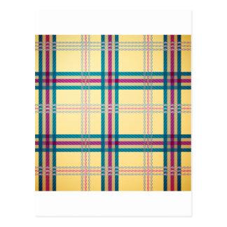 Fondo del modelo de la tela escocesa de tartán postales