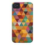 Fondo del modelo de los triángulos del vintage Case-Mate iPhone 4 cárcasas